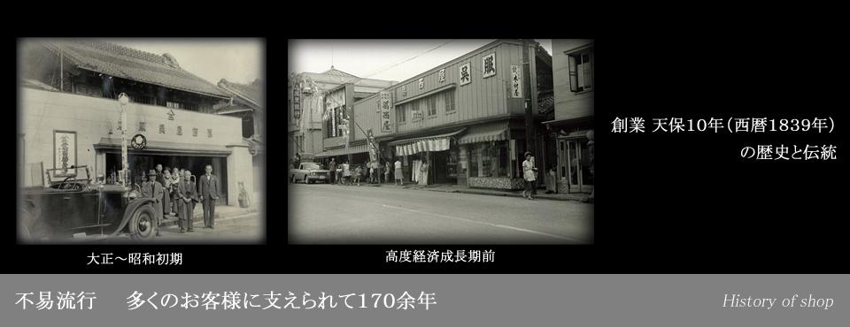 葛西屋の歴史と店舗説明